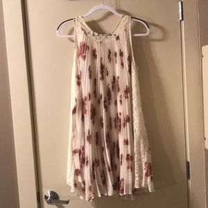 Free People floral pleated tent dress XS